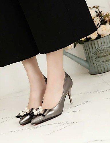 UWSZZ IL Sandali eleganti comfort Scarpe Donna-Scarpe col tacco-Matrimonio / Ufficio e lavoro / Casual-Tacchi / A punta-A stiletto-Finta pelle-Nero / Blu / Rosa / Rosso / Black