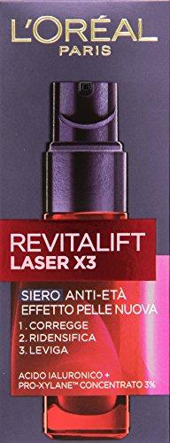 L'Oréal Paris Revitalift Laser X3 Siero Viso Anti-Età, 30 ml