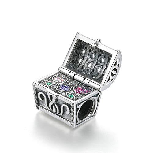 Charm a forma di scatola di Natale in argento Sterling 925, compatibile con bracciali con zirconia cubica colorata, per ragazze, mamma, nonna, zia, moglie.
