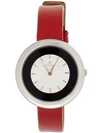 Titan Tagged Analog White Dial Women's Watch-NK2482SL01
