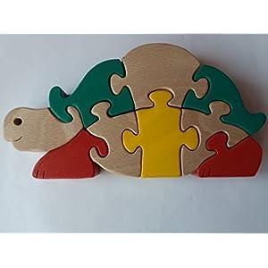 Holz Puzzle Schildkröte handwerk Meerwasser Schildkröten Tier Spielzeug Geschenk für Kinder massiv Holz Spielzeug Buche