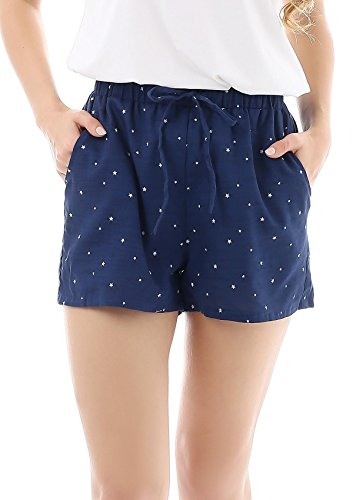 - 416iT uacEL - Yulee Women's Cotton Lounge Pyjama Shorts Sleepwear Sleep Shorts