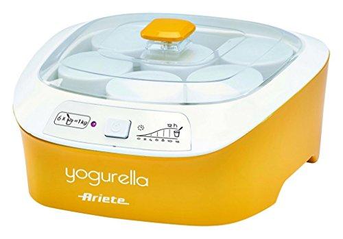 Yogurtiera Ariete YOGURELLA - 626 con 6 vasetti / 1 lt di Yogurt a ciclo - colore Giallo