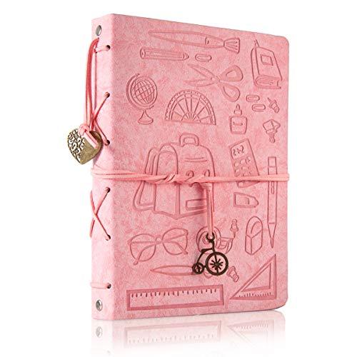 ThxMadam Scrapbooking Foto Album Studente retrò Memoria Libro degli Ospiti di Nozze per San Valentino Mamma Bambini Giorno Anniversario Compleanno Natale Regalo per Insegnante Ragazza Moglie,Piccolo