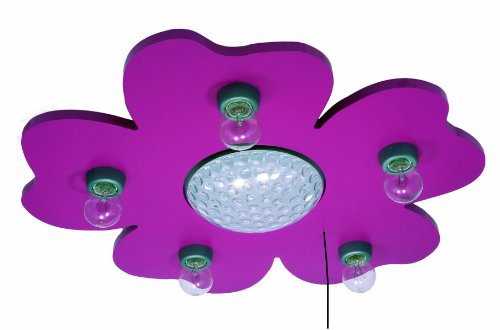 Niermann Standby Deckenlechte Happy-Flower, magenta 672