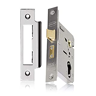 XFORT® Euro Cylinder Sashlock Case, Mortice Locks for Doors, Provides Door Latching in Addition to Lock & Key Door Security, Designed to Accept a Range of Euro Cylinders For Greater Degree of Security