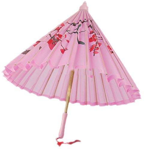 Umbrella Kostüm Girl - erdbeerclown - Karneval Kostüm Accessoire Asiatischer Schirm, Rosa
