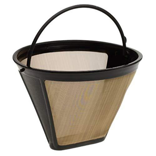 Demino Kegelform Permanent Kaffee-Filter waschbar Edelstahl Wiederverwendbare Kaffee-Kaffee-Hersteller-Maschine Tee-Werkzeug