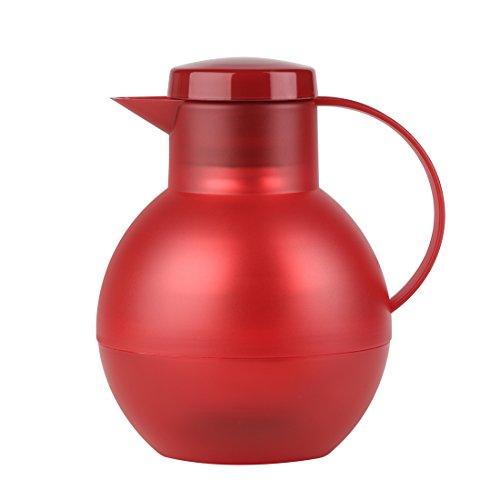 Emsa 509155 SOLERA Tea Théière Isotherme 1 Litre 100% Hermétique Translucide Rouge
