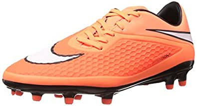 Nike Men's Hypervenom Phelon Fg Hyper Crimson,White,Atomic Orange,Black  Football Boots -10 UK/India (45 EU)(11 US)