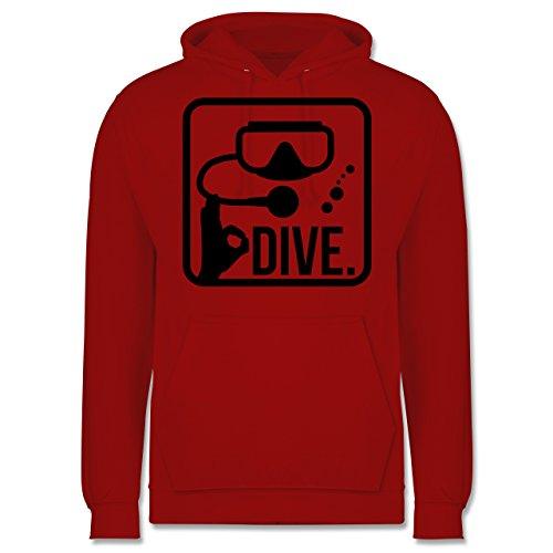 Wassersport - Dive. - Männer Premium Kapuzenpullover / Hoodie Rot