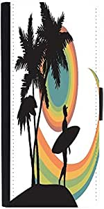 Snoogg Tropical Background Designer Protective Phone Flip Case Cover For Samsung Galaxy A8