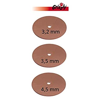Set of 3Sanding Disc 3.2/3.5/4.5mm Suitable for Atika Chainsaw Sharpener KSG 220A and KSG 220