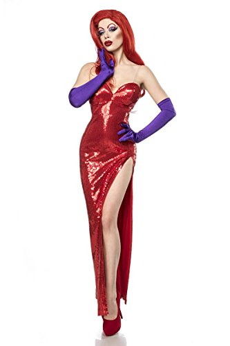 Rabbit Kostüm Damenkostüm Jessica Comic Karneval Fasching (Eine Jessica Rabbit Kostüm)