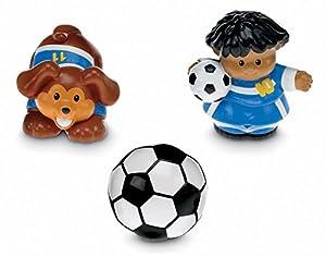 Fisher Price - Tubo Figuras Little People, el fútbol (Mattel P0130)