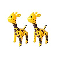 BESPORTBLE 2pcs Giraffe Walking Balloons Inflatable Animal Balloons Toy Ballons Kids Farm Animal Birthday Party Supplies Home Garden Decorations (Yellow)