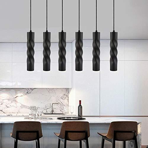 Moderne Pendelleuchten Zylinder Pipe LED Pendelleuchten Insel Esszimmer Shop-Theke Küche Ausstattung Hanglamp Beleuchtung, schwarz, 5W L30cm, warmes Weiß # 27 -