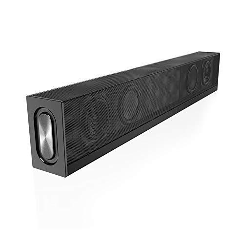 WSYA 20W Strip Bluetooth Speaker Home Theater, Super Bass Portable Wireless Computer/TV Subwoofer mit Mic FM Radio Features -