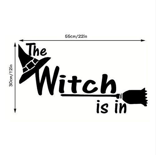 LONGTENGHEIHA Halloween Buchstaben Wandaufkleber Fenster Dekoration Aufkleber Dekor Hexe Halloween Design DIY PVC Wandtattoos ()