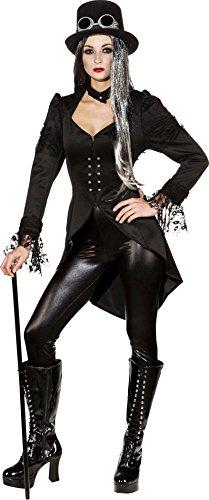 Orlob Damen Kostüm Frack Steampunk Gothic Karneval Fasching Gr.36 (Gothic Kostüm)