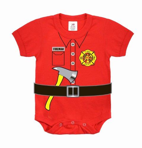 feuerwehrstrampler Kurzärmliger Baby Body Feuerwehr Uniform (9-12 Monate (74-80))