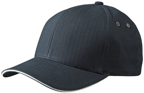 Myrtle Beach Uni Cap Flexfit Ripstop  Sandwich, black/cream, L/XL, MB6187 blcr