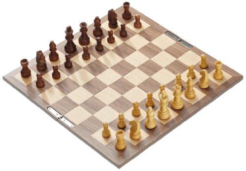 Philos 2728 - Schachset mit klappbarem Holzspielbrett, Feld 40 mm, Königshöhe 62 mm