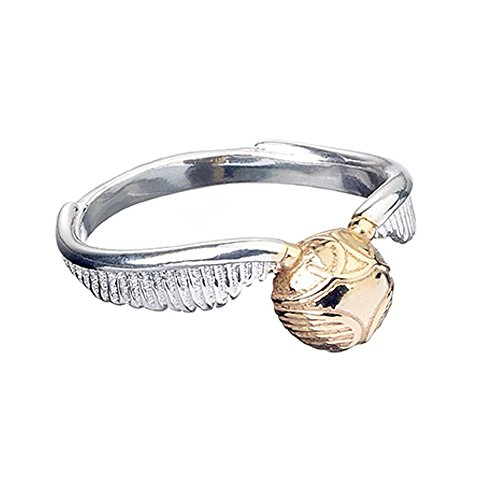 Ufficiale di Harry Potter Snitch-Anello in argento Sterling, misura grande, colore: oro