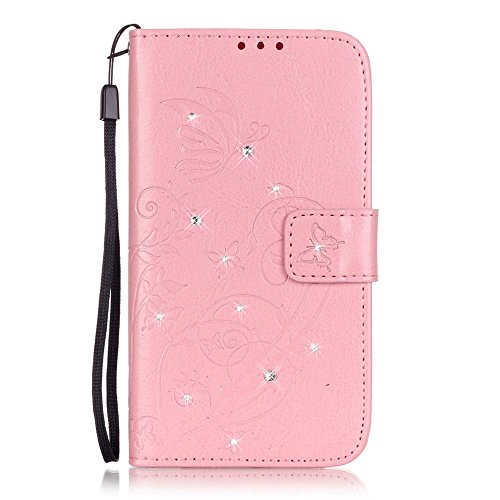 Nutbro Samsung iPhone 5S SE Case,iPhone 5S Wallet Case Fashion Elegant Design Embossed Flip PU Leather Wallet Case Credit Card Case Slot Cover With Hand Strap YB-iPhone-5S-237