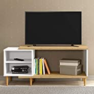 Ditalia MoveisTV Rack for 32 inch TV - Brown & White (H 50 cm x W 35 cm x D 109 cm)
