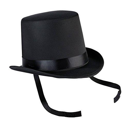 Schwarzen Satin Top Hat - Lillian Rose RA27320,3x 17,1cm schwarz Top