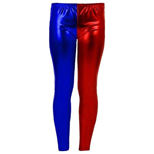 Janisramone Damen Harley Quinn Cosplay Halloween Kostüm Shorts Suicide Squad Oberteil Kurze Hosen Leggings