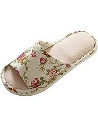 398ae14b31b91 Weixinbuy Open Toe Cotton Indoor Slippers for Women Men Home Bedroom  Slippers