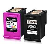 Vmosgo 300XL Patronen Ersatz für HP 300 300XL Druckerpatronen Kompatibel mit HP DeskJet F2480 F4580 F4280 D1660 D2660 D5560, HP Envy 120 100 110 114, HP PhotoSmart C4780 C4680 C4670(1Schwarz,1Farbe)