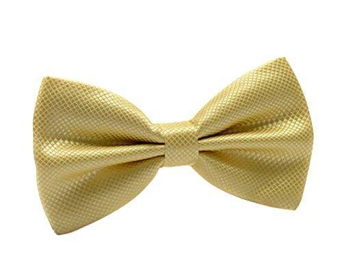 Einstellbarer Pre-Tied Tuxedo Designer-formale Hochzeit Bow Tie For Men & Boy Gold Pretied Bow Tie