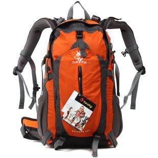 Modern Outdoor-Klettern Rucksack Schultertaschen Wanderrucksack Bergsteigen Taschen Outdoor-Sport-bagpack (blau) Orange