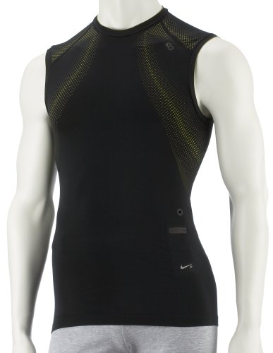 Men'Running T-Shirt Seamless Sleeveless Fitted IPOD, Schwarz S schwarz - schwarz ()