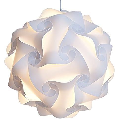 Excerando Puzzle lámpara/Puzzle IQ Tulipa de lámpara de techo lámpara de techo decoración moderna lámpara de techo Diámetro 40 cm para salon dormitorio Hall