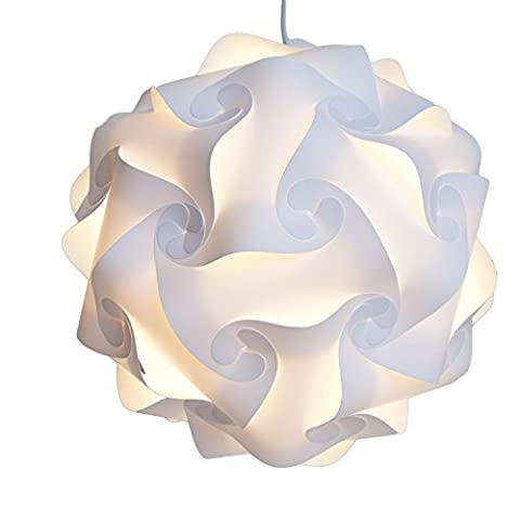Lampe Ombre Puzzle - Puzzle lightshade - ombre Jigsaw IQ Light - Plafond abat-jour - Eclairage Suspension moderne - Flat Pack Self Assembly(M)