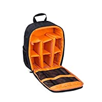 Waterproof DSLR Camera Bag Shockproof Backpack Hiking Bag-Orange