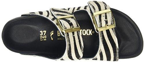 Birkenstock Damen Arizona Leder Pantoletten Multicolor (Zebrino Exquisit)