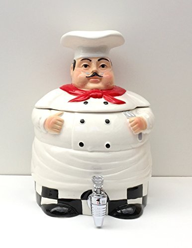 Plump Chef Collection Deluxe Hand-painted Water Jar by ACK Plump Chef Collection