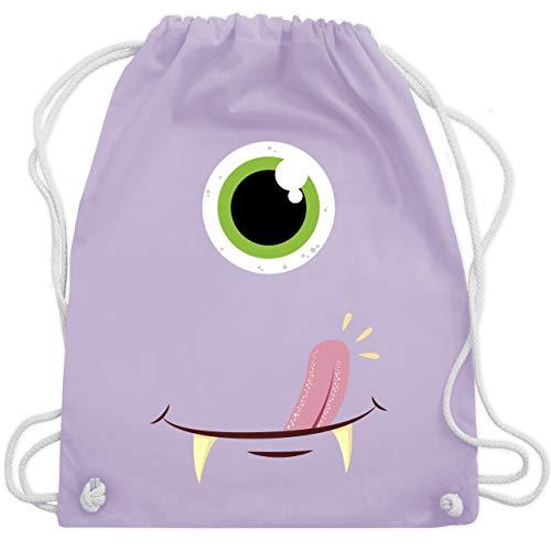 2 Gesichter Kostüm - Karneval & Fasching - Monster Gesicht Kostüm - Unisize - Pastell Lila - WM110 - Turnbeutel & Gym Bag
