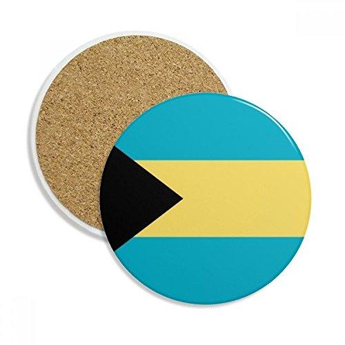 DIYthinker Das Bahamas Nationalflagge Nordamerika Land Stein Getränk Keramik-Untersetzer für Becher-Schalen-Geschenk 2pcs Mehrfarbig Bahama Becher