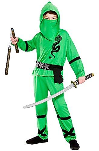 Power Ninja - Green Kids Fancy Dress ()