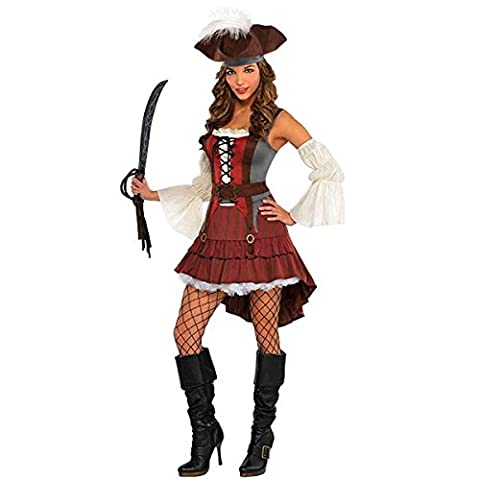 Castaway Pirate - 8-10 (Piraten-mädchen-kostüm Uk)
