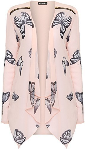 plus-size-womens-long-sleeve-chiffon-butterfly-print-zip-cardigan-ladies-top-22-24-nude