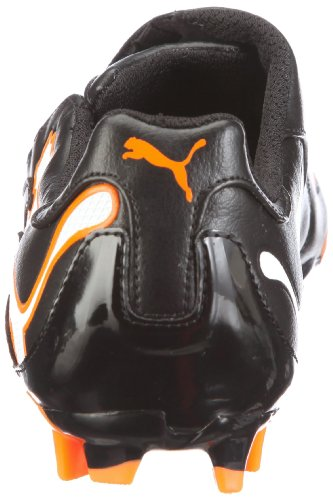 Puma Pwr 3-10 Ifg, Crampons moulés football homme Noir / Blanc / Fluo Orange