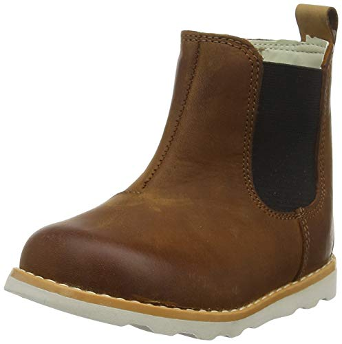 Clarks Jungen Crown Halo T Chelsea Boots, Braun (Tan Leather Tan Leather), 22 EU