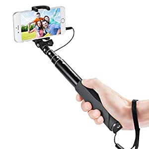 panshot selfie stick monopiede per autoritratto con controllo cavo bluetooth con supporto per. Black Bedroom Furniture Sets. Home Design Ideas